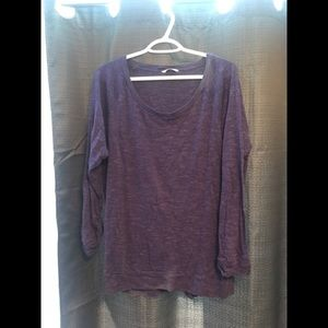 TNA Sweater style top with rolled 3/4 sleeve